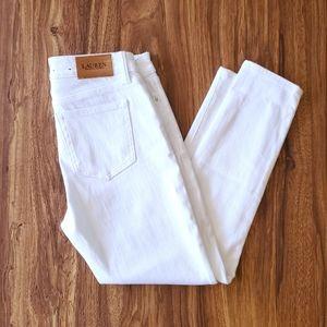 LAUREN RL High Rise  White skinny jeans